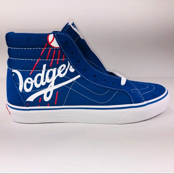 3a71a0b6 Vans Shoes | Sk8 Hi Mlb La Dodgers Classic Blue Sneakers | Poshmark